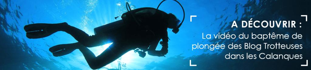 Vidéo baptême de plongée Calanques de Cassis